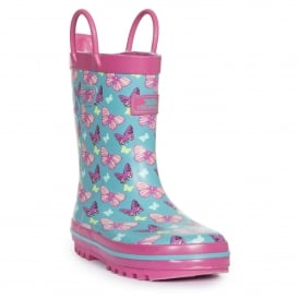 Girls Butterflie Wellie Marine
