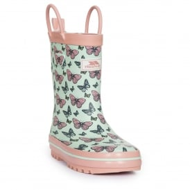 Girls Butterflie Wellie Peppermint