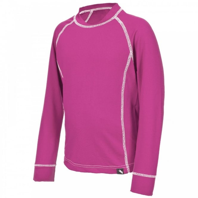 Trespass Girls Mika Base Layer Set Azalea