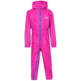 Kids Button II All In One Suit Hot Pink