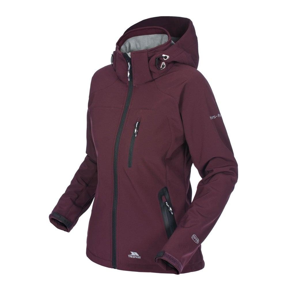 Trespass Ladies Bela Softshell Jacket Shiraz Ladies From