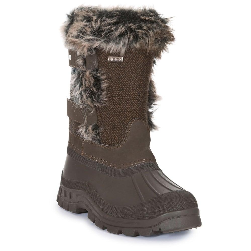 14b41c61a68e5 Trespass Ladies Brace Snowboot Peat - Footwear from Great Outdoors UK