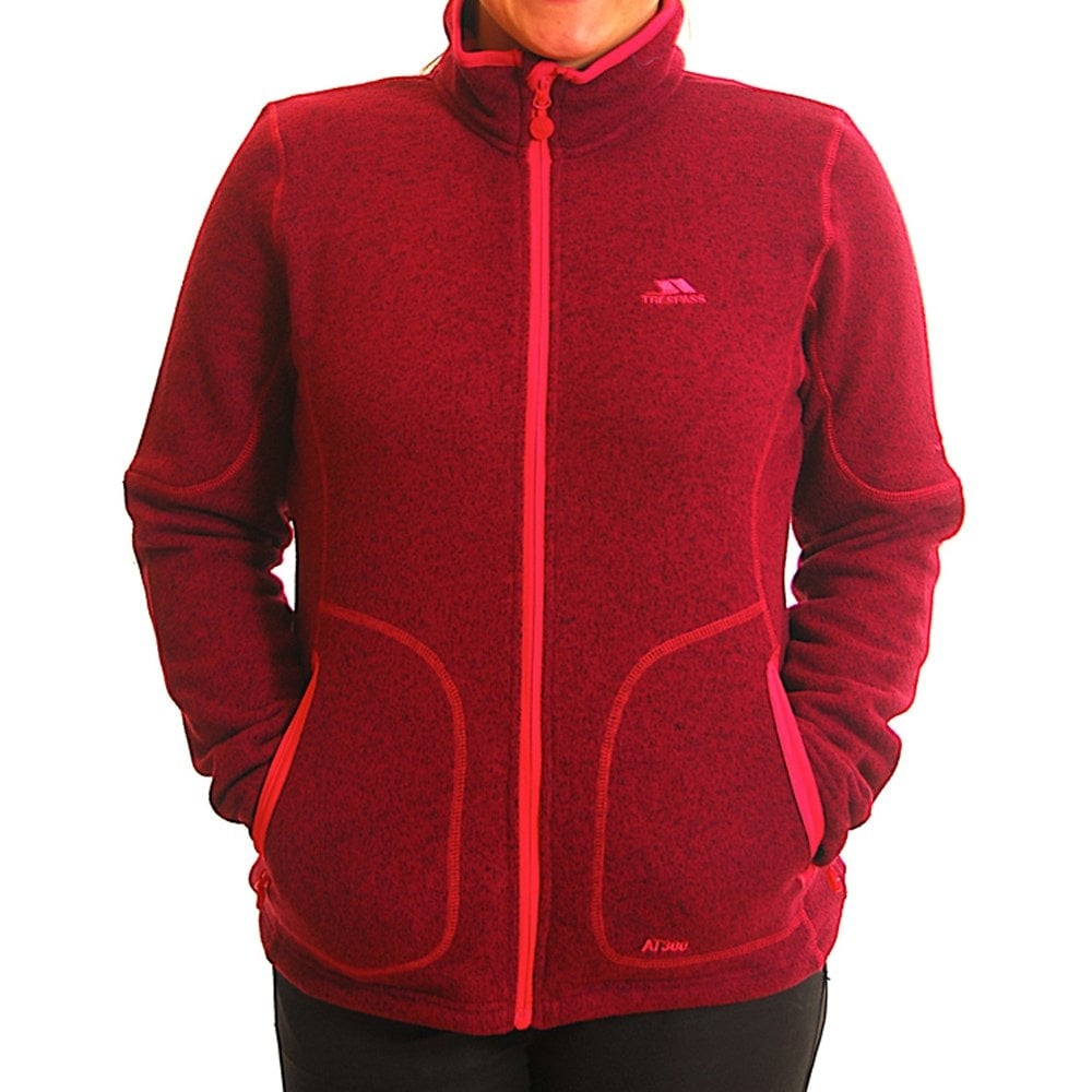 Trespass Ladies Cardigan Fleece Jacket Plum