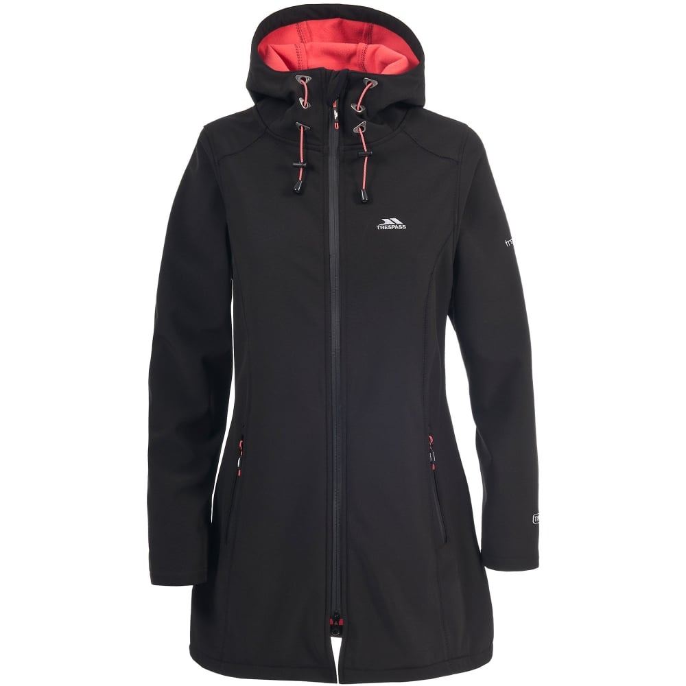 Trespass Ladies Kitsy 3/4 Softshell Coat Black