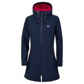 Ladies Kitsy 3/4 Softshell Jacket Navy/Cerise