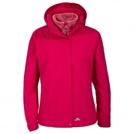 Ladies Madalin 3 in 1 Jacket Cerise