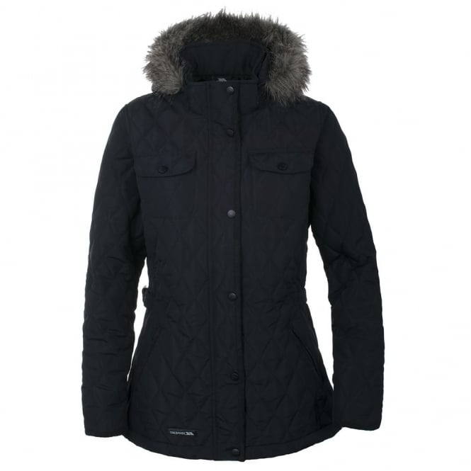 Trespass Purdey Quilted Jacket | Ladies in Black - Great Outdoors ...