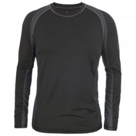 Mens Explore Long Sleeve Crew T-Shirt Black
