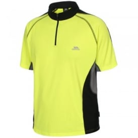 Mens Grenada Zip T-Shirt Hi-Vis Yellow