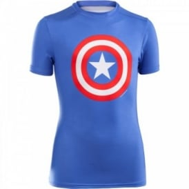 Boys Alter Ego Fitted T-Shirt Captain America