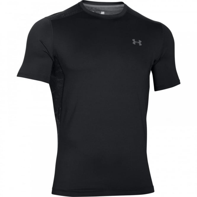 8ea35b1a Under Armour Mens UA Raid Short Sleeve T-Shirt Black/Red - Mens from ...