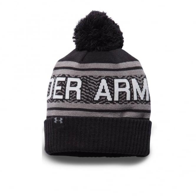 Under Armour Mens UA Retro Pom 2.0 Hat Black Graphite a1b7852ba3