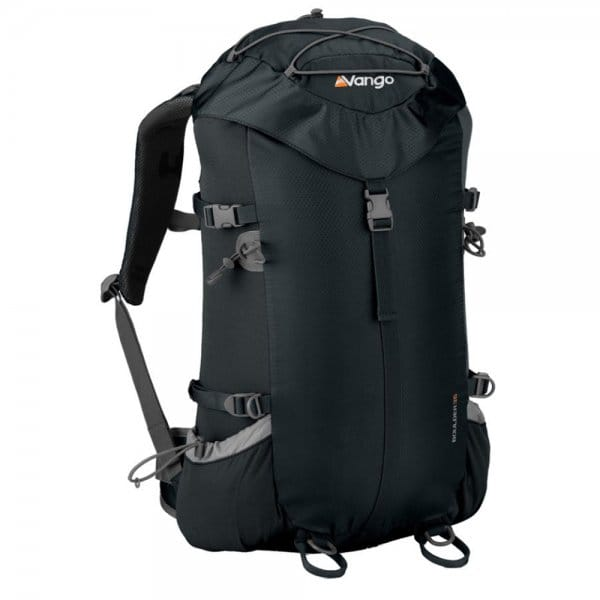 vango boulder 35 litre rucksack black backpacks from great outdoors uk. Black Bedroom Furniture Sets. Home Design Ideas