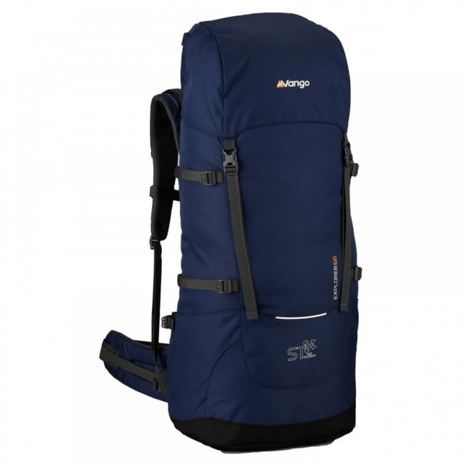 b27d8fcdafd Vango Explorer 60 Litre Rucksack Ensign Blue - Backpacks from Great ...