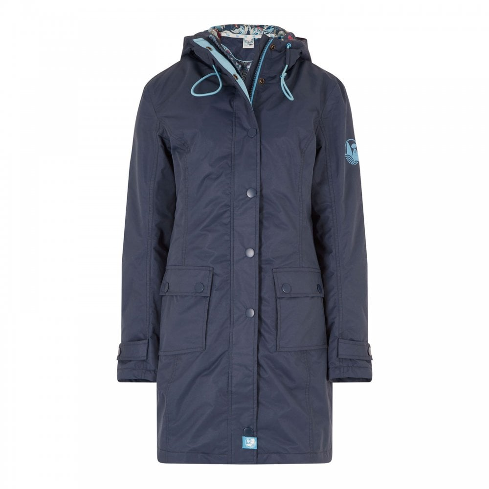 best place for shop best sellers online store Ladies Amadeo Waterproof Coat Navy