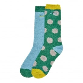 Ladies Park 2 Pack Sock Fir Green
