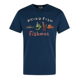 Mens Artist T-Shirt Fishmas Blue