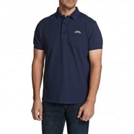 Mens Barros Pique Polo T-Shirt Dark Navy