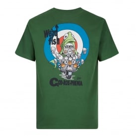 Mens Cod-Roe-Phenia Graphic T-Shirt Olive