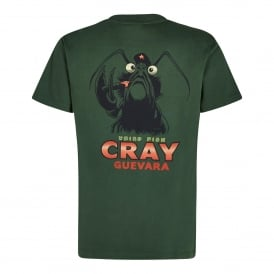 Mens Cray Guevara Graphic T-Shirt Olive