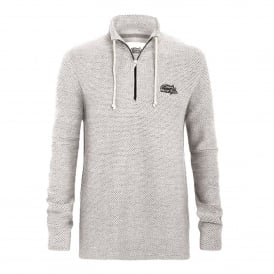 Mens Cruiser 1/4 Zip Fleece Ecru