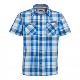 Mens Ebro Short Sleeve Shirt Primary Blue
