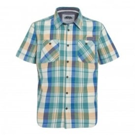 Mens Ebro Short Sleeve Shirt Washed Teal