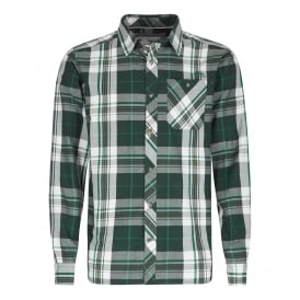Mens Ezra Long Sleeve Shirt Evergreen