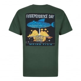Mens Findependence Graphic T-Shirt Olive