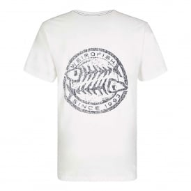 Mens Heritage Surf T-Shirt Snow White Marl