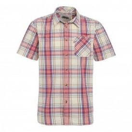 Mens Loire Short Sleeve Shirt Crimson