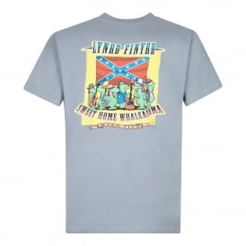 Mens Lynrd Finyrd Graphic T-Shirt Grey Blue