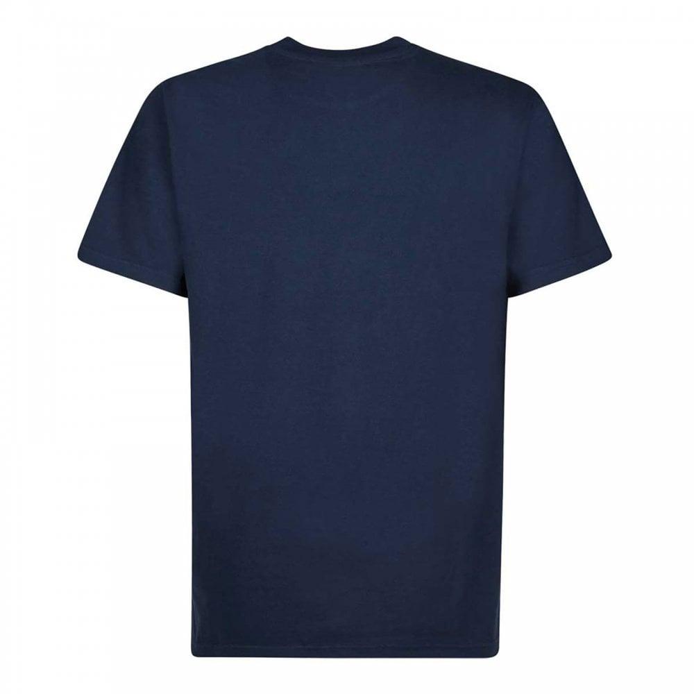 75e47467 Weirdfish Mens Shrimp Floyd Graphic T-Shirt Maritime Blue - Mens ...