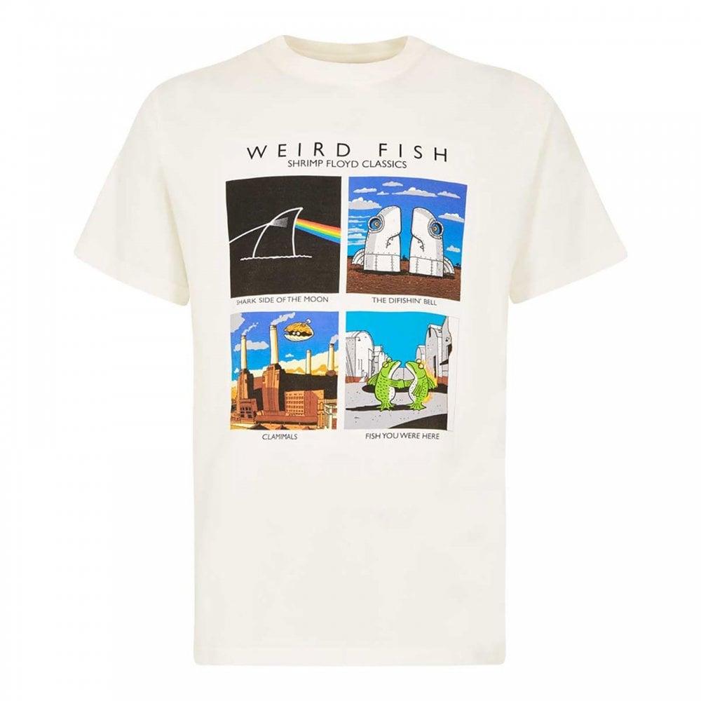 09b9d836 Weirdfish Mens Shrimp Floyd Graphic T-Shirt Marshmallow - Mens from ...